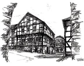 Zeichnung: Zum Alten Turm